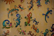 Color Lizards On The Wall Print by Rob Hans