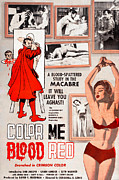 1960s Poster Art Photos - Color Me Blood Red, Gordon Oas-heim by Everett