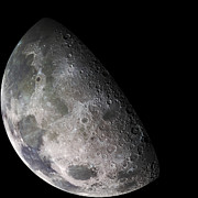 Color Mosaic Of The Earths Moon Print by Stocktrek Images