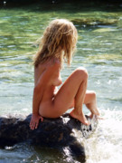 Nude Woman Water Posters - Color nude 013 Poster by Manolis Tsantakis