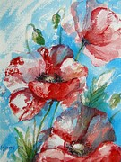 Natural World Paintings - Color Of Poppies by Khromykh Natalia