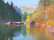 Yosemite Pastels - Color on the River by Reif Erickson