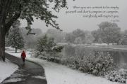 Lao Tzu Prints - Color Photo Snow Scene Lao Tzu Quote Print by Heidi Hermes