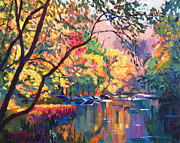 Fall Leaves Prints - Color Reflections Plein Aire Print by David Lloyd Glover