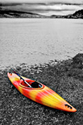 Kayak Framed Prints - Color Splash Framed Print by Meirion Matthias