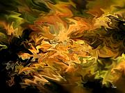 Brown Digital Art Originals - Color Storm by Tom Romeo