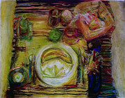 Table Cloth Pastels - Color Study by Jana Barros