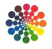 Color Wheel Circles Print by Kshoo Design