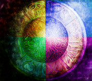 Tibet Digital Art Prints - Color Wheel Print by Debbie Edwards