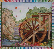 Landscape Framed Prints Tapestries - Textiles Framed Prints - Color Wheel Framed Print by Kathy McNeil