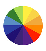 Color Theory Posters - Color Wheel Poster by SPL and Photo Researchers