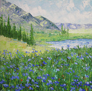 South Of France Paintings - Colorado Alpine Lake by Frederic Payet