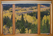 Fall Photos Framed Prints - Colorado Autumn Picture Window Frame Art Photos Framed Print by James Bo Insogna
