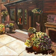 Entrance Shop Front Prints - Colorado Coffee  Print by Liz Dettrey