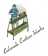 Steve Weber Drawings Framed Prints - Colorado Custom Works Design Framed Print by Steve Weber