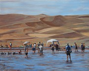 Sand Dunes Paintings - Colorado Dunes by Judy Johnson