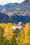 Autumn Decorations Posters - Colorado Estes Park Stanly Hotel Autumn View Poster by James Bo Insogna