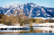 Lake Walden Posters - Colorado Flatirons 2 Poster by Marilyn Hunt