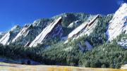 Frosted Framed Prints - Colorado Flatirons Framed Print by Marilyn Hunt