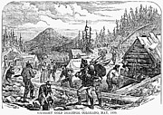 Rocky Mountains Prints - Colorado: Gold Mining, 1859 Print by Granger