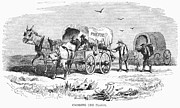 Covered Wagon Posters - Colorado Gold Rush, 1859 Poster by Granger