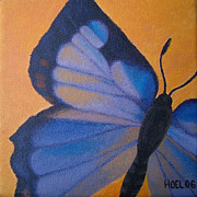 Insect Paintings - Colorado Hairstreak Butterfly by Jessie Leahy