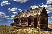 Landscape Digital Art Metal Prints - Colorado Homestead Metal Print by Pete Hellmann