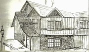 Buildings Drawings - Colorado Living by Shannon Harrington