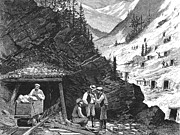 Settler Framed Prints - Colorado: Mining, 1874 Framed Print by Granger