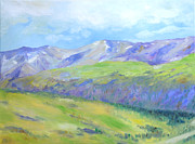 Some Snow Capped Peaks. Beautiful Nature Scene Of Mountains Paintings - Colorado Mountains by Barbara Anna Knauf