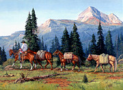 National Painting Posters - Colorado Outfitter Poster by Randy Follis