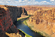 Sandstone Canyons Photos - Colorado River at Marble Canyon AZ by Christine Till