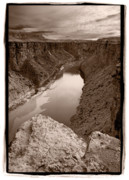 Cliff Photo Originals - Colorado River from Navajo Bridge by Steve Gadomski