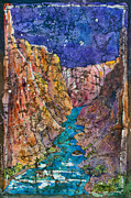 Canyon Paintings - Colorado River in The Grand by Renee Chastant