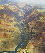 Still Life Prints Prints - Colorado River Inside the Grand Canyon Print by M K  Miller