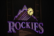 Baseball Originals - Colorado Rockies Logo in Lights by Cynthia  Cox Cottam