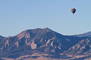 Rocky Mountains Posters - Colorado Rocky Mountain Front Range Hot Air Balloon View Poster by James Bo Insogna