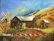 Shed Painting Posters - Colorado Shed Poster by Linda Shackelford