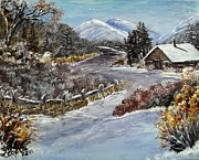 Snowed Trees Painting Posters - Colorado Snow In Poster by Lora Boyden