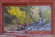 Lyons Prints - Colorado St Vrain Canyon Red Rustic Picture Window Frame Photos  Print by James Bo Insogna