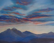 Front Range Painting Prints - Colorado Sunset Print by Margaret Bobb