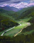 Snow-covered Landscape Originals - Colorado Valley in June by Nancy Paris Pruden
