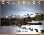 Dallas Digital Art Metal Prints - Colorados Dallas Divide Metal Print by Lu Anne Tyrrell