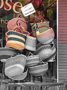 Baskets Posters - Colored Baskets Poster by David Bearden