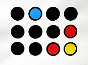 Prints Reliefs Originals - Colored Circles by Scott Shaver