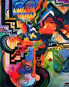 Macke Posters - Colored Composition Poster by Pg Reproductions