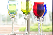 Colored Glass Art Metal Prints - Colored Glasses Metal Print by Yurix Sardinelly