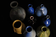 Jugs Prints - Colored Jugs Print by Jennifer LaPoint