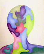 Colored Man Print by Linda Pope