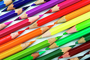 Large Group Of Objects Art - Colored Pencil Tips by Image by Catherine MacBride